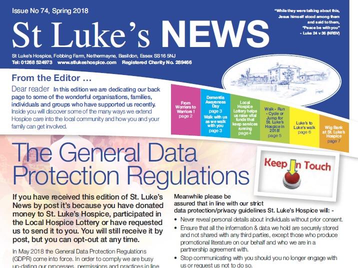 website graphic - St Lukes Hospice, Basildon, Essex, UK